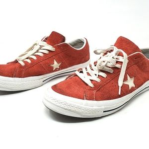 Converse One Star Ox Suede low top sneakers in red men's size 9 or women's 11